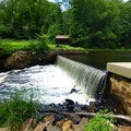 Dam forming the end of the pond.- Cooper Gristmill to Kay's Cottage via Patriot's Path