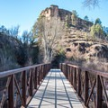 The trail crosses the West Fork of the Gila River.- Gila Cliff Dwellings National Monument