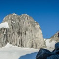 The climb to Bugaboo Spire is filled with incredible views.- Bugaboo Spire via Kain Route