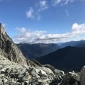 Checking out the views from Joffre Peak.- Joffre Peak: Northeast Ridge Scramble
