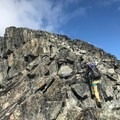 Approaching the false summit. This is where the fun ends. The real summit is perhaps more satisfying, but it's also no fun at all getting there. - Joffre Peak: Northeast Ridge Scramble