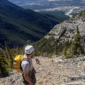 Scree bashing to gain the ridge.- Mount Lady MacDonald: East Southeast Ridge