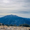 Looking south from the summit toward Bennett, Rodgers and Telescope Peaks.- Wildrose Peak