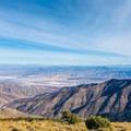 Views from the peak up Death Valley.- Wildrose Peak