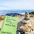 Don't forget to sign the summit register!- Wildrose Peak