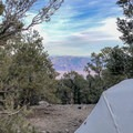 Views from the tent into Badwater Basin.- Mahogany Flat