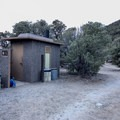 Vault toilets in Mahogany Campground, Death Valley National Park.- Mahogany Flat