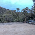 Typical campsite in Mahogany Flat Campground, Death Valley National Park.- Mahogany Flat