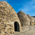 The lineup of 10 century-old kilns .- Charcoal Kilns