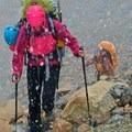 Closing in on the hut.- Saint Nicholas Peak: South Ridge