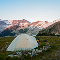 Lovely little campsite above the Himmelsbach Hut. - Singing Pass