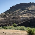 The view from the campground.- John Day River: Service Creek to Clarno