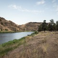 Looking downstream toward camp on the John Day River.- John Day River: Service Creek to Clarno