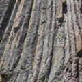 A close-up of the basalt formation in Cathedral Rock.- John Day River: Service Creek to Clarno