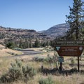 The entrance to Service Creek Campground.- Service Creek Campground