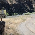 The nearby boat ramp.- Service Creek Campground
