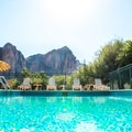 The pool is open year round.- Saguaro Lake Guest Ranch