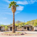 Four of the 20 cabins on the property. - Saguaro Lake Guest Ranch