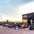 Sunset over Goldfield.- Goldfield Ghost Town