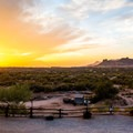 Sunset views from Goldfield Ghost Town.- Goldfield Ghost Town