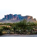 Superstition Mountains.- Goldfield Ghost Town