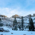 The majority of sites are nestled in among the trees and surrounded by rising peaks.- Emerald Lake Campground