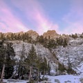 A beautiful sunset from Emerald Lake Campground in Sequoia National Park.- Emerald Lake Campground