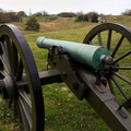 Various types of cannons are displayed in strategic locations within the park.- Vicksburg National Military Park