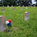 More than 150 years after the Civil War, someone has lovingly visited this grave.- Vicksburg National Military Park