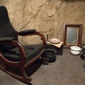 During the siege of Vicksburg, citizens sought shelter in man-made caves. The visitor center showcases an original Civil War era rocking chair used in one of the caves.- Vicksburg National Military Park