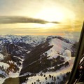 The pick-ups and drop-offs are as exciting as the skiing itself, with amazing mountain vistas of the rugged Sawtooth Mountains. Photo credit: Sun Valley Heli Ski.- Sun Valley Heli Ski