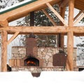 The pizza oven at the Smoky Mountain Lodge, the only remote fly-in heli lodge in the Lower 48. Photo credit: Sun Valley Heli Ski.- Sun Valley Heli Ski