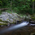 A charmingly quiet scene on Big East Fork of the Pigeon River. - Shining Rock via Big East Fork