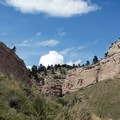 A blue sky graces part of Saddle Rock Trail. - Scottsbluff National Monument