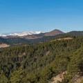 Indian Peaks from Anemone Ridge.- Anemone + Mount Sanitas Loop Trail