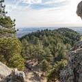 Looking back on Anemone Ridge.- Anemone + Mount Sanitas Loop Trail