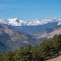 Main visible Indian Peaks group.- Anemone + Mount Sanitas Loop Trail
