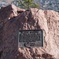 Plaque at Sanitas Summit.- Anemone + Mount Sanitas Loop Trail