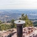 Mount Sanitas summit marker.- Anemone + Mount Sanitas Loop Trail