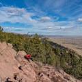 Looking north from Mount Sanitas.- Anemone + Mount Sanitas Loop Trail