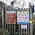 Information signs for Whiskey Run Beach.- Whiskey Run Beach