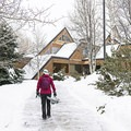 Grabbing a day pass from the Sawtooth National Recreation Area Visitor Center located right at the trailhead.- North Fork Snowshoe