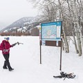 Everything is very well marked.- North Fork Snowshoe