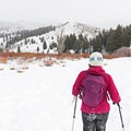 Heading out on the North Fork Snowshoe.- North Fork Snowshoe