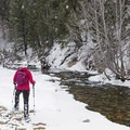 The North Fork of the Big Wood River.- North Fork Snowshoe