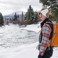 Enjoying the the North Fork of the Big Wood River.- North Fork Snowshoe