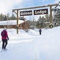 On our way to have some serious fun in the mountains at Galena Lodge.- Galena Lodge Snowshoe