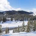 Looking southwest toward the Titus Creek area. - Galena Lodge Snowshoe