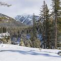 Looking east toward 11,153-foot Galena Peak.- Galena Lodge Snowshoe