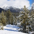 An open view of the canyon.- Galena Lodge Snowshoe